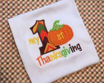 1st Thanksgiving shirt, first thanksgiving turkey shirt, turkey shirt, thanksgiving outfit, my 1st thanksgiving, girls turkey, personalized