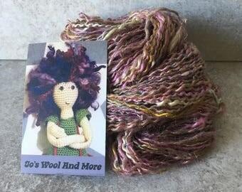 Glitter! Hand spun yarn.