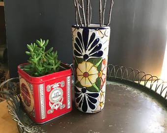 Mexican pottery vase