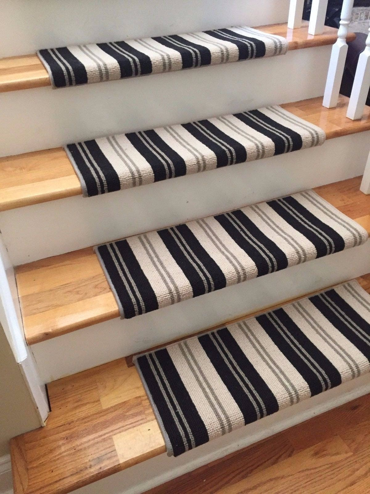 Wall Street 100% New Zealand Wool! TRUE Bullnose™ Carpet Stair Tread Runner  Replacement For Style, Comfort And Safety (Sold Each)