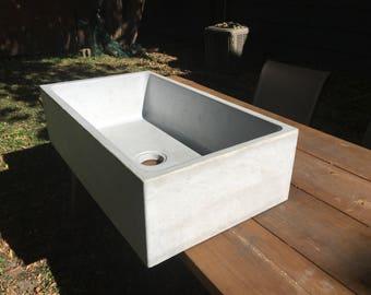 Concrete Farmhouse Kitchen Sink