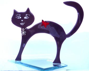 """Round back fusing purple cat and his red Butterfly """"Ch1"""""""