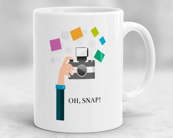 Oh Snap Mug, Photographer Mug, Photographer Gift, Camera Mug, Photography Mug, Camera Gift, Photography Gift P172