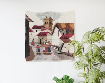 Vintage Hand-Woven Wall Tapestry