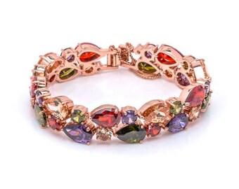 Bold Multicolor Zircon bracelet