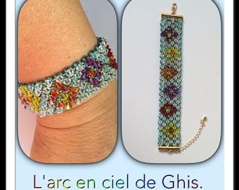 Bracelet multicolored Swarovski Crystal bicones.