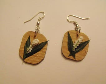 White Flower Dangle Earrings