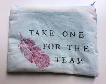 Take one for the team cosmetic bag / Phoenix Down zipper pouch / Phoenix Down cosmetic bag
