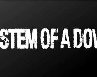 System of a Down Vinyl Decal Car Window Laptop SOAD Sticker
