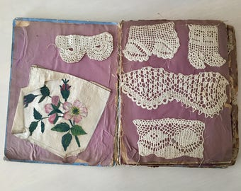 Victorian Era Scrapbook - Crochet Samples - Vintage