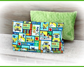 Pete the Cat Themed Nap Mat Cover and Pillow Case - Kindermat - Daycare - Preschool - Kindergarten