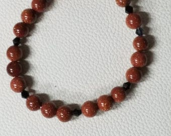 Handmade sandstone and Sterling silver bracelet