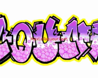 GRAFFITI TAG PERSONALIZED GIANT