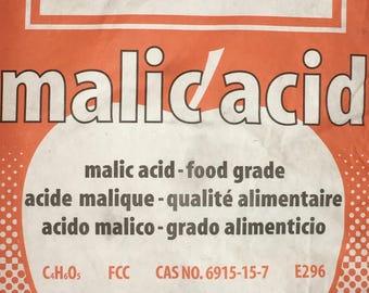 Malic Acid FCC/USP Grade 50lb Bag