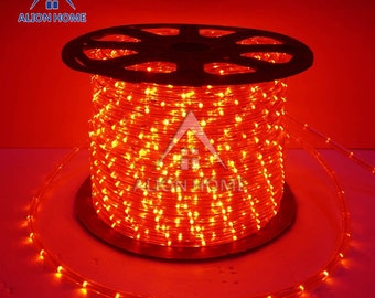 Custom Sized (Custom Length) LED Rope Lights for Patio, Backyard, Eaves, Roofs, Windows or Business etc. -  Red
