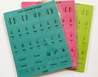 Diary planner tabs
