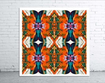 FLOWER BURST - 30x30cm Canvas