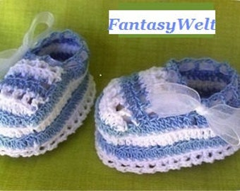 Baby shoes cotton 0-3 months Baby shoes boy Baby shoes crochet Baby Booties Baby booti newborn gift blue whit perls Baby bootie boots