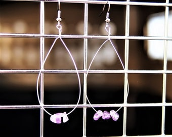 Amethyst Loop Earrings
