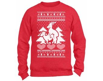 Humping reindeer   Etsy