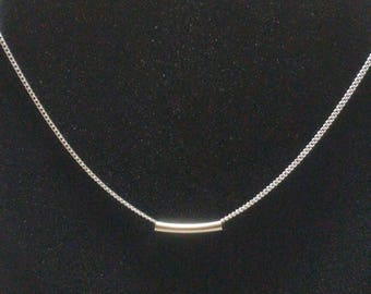 Sterling silver chain with tube finding