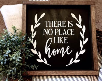 There's no place like home, Wood Sign, Farmhouse Style Sign, Family sign, Home Sign, Home Decor, Rustic Decor, Farmhouse Sign