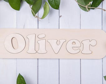 Custom name puzzle personalized baby gifts wooden puzzle personalized wooden puzzle wooden name puzzle personalized puzzle personalized name signs personalized negle Choice Image