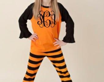 Halloween/Fall Ruffle Pants Outfit