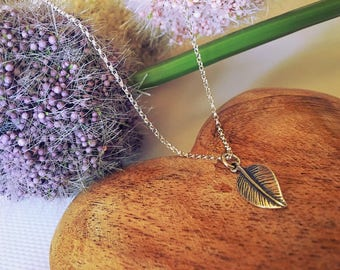 Silver Leaf Necklace - Sterling Silver Necklace - Silver Leaf Pendant - Autumn Jewellery - Leaf Charm - Gift For Her - Anniversary Gift -