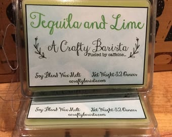 Scented Wax Melts - Soy Blend Wax Tarts - Candle Melts - Breakaway Tarts - Tequila and Lime - Home Fragrance ~ Wax Cubes