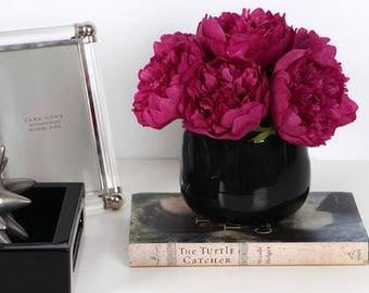 Luxury Dark Pink Peony Flower Arrangement