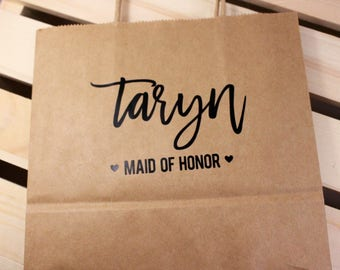 Gift Bags for Wedding Guest – Gift Bags for Bridesmaids – Paper Bags With Handles – Favor Bags – Custom Gift Bags – Custom Name Bag