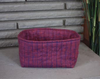 SMALL Quilted Cotton Nesting Basket