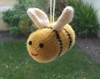 Handmade Crochet Bumble Bee Toy