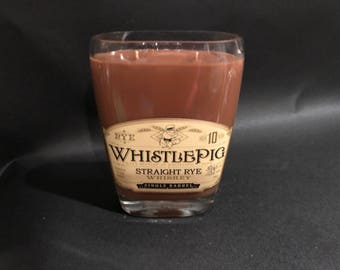 Whistle Pig 10 Year Rye Whiskey BOTTLE Soy Candle . 750ML. Made To Order !!!!!