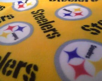 Pittsburgh Steelers Fleece Baby or Wheelchair/Lap Blanket