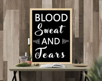 Digital Printable Poster | BTS KPOP Bangtan Boys Blood Sweat and Tears Poster | 8x11 Print From Home