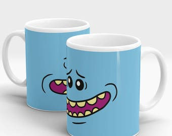 Rick and Morty - Mr Meeseeks Face - 10oz Ceramic Mug - Full Wrap