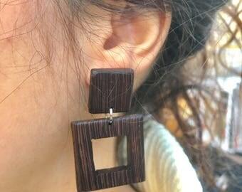 Earrings in Wenge