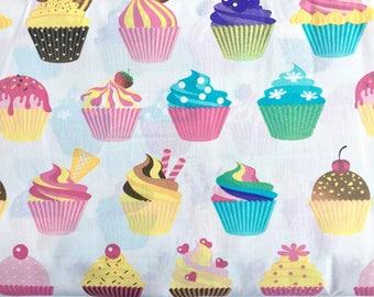 Cupcake fabric, macarons fabric, muffin fabric, sweets fabric, candy fabric, cupcakes fabric, muffins fabric