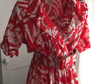 Vintage Milanzo Cherry Red Dress