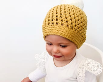 Pom Pom Beanies / Winter Hat / Baby Beanie / Baby Hat / Mummy and Me Beanies