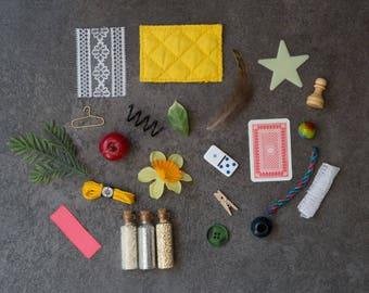 Any 10 Montessori Alphabet Objects - I Spy Sound Game - A-Z Phonics Miniatures - Phonetic Beginning Sounds Early Literacy Preschool Activity