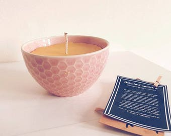 Grapefruit and Orange Beeswax Candle