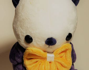 Made to Order Otter Plush - Custom Otter Plushie - Choose One of Three Body Colors - Sea Otter Plush With Bowtie