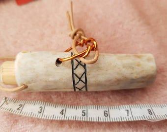 viking reenactment antler needle case