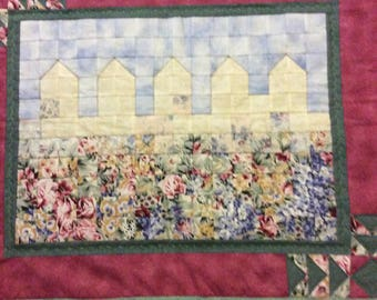 """Quilted wall hanging """"Fences"""" Colorwash"""