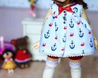 Red Sailor Uniform for Littlefee / YoSD 1/6 BJD