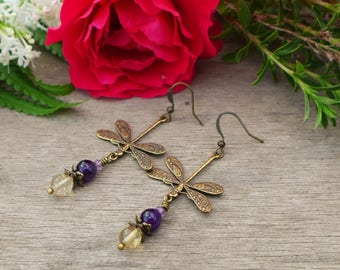 Dragonfly Amethyst, iolite and citrine