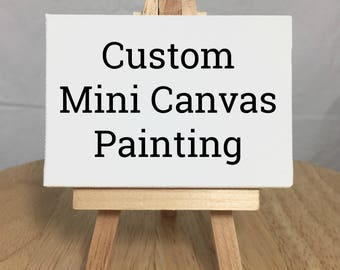 CUSTOM, Mini Canvas Painting. Miniature Canvas Art, Acrylic Painting, Mini Canvas art, Miniature Canvas Painting